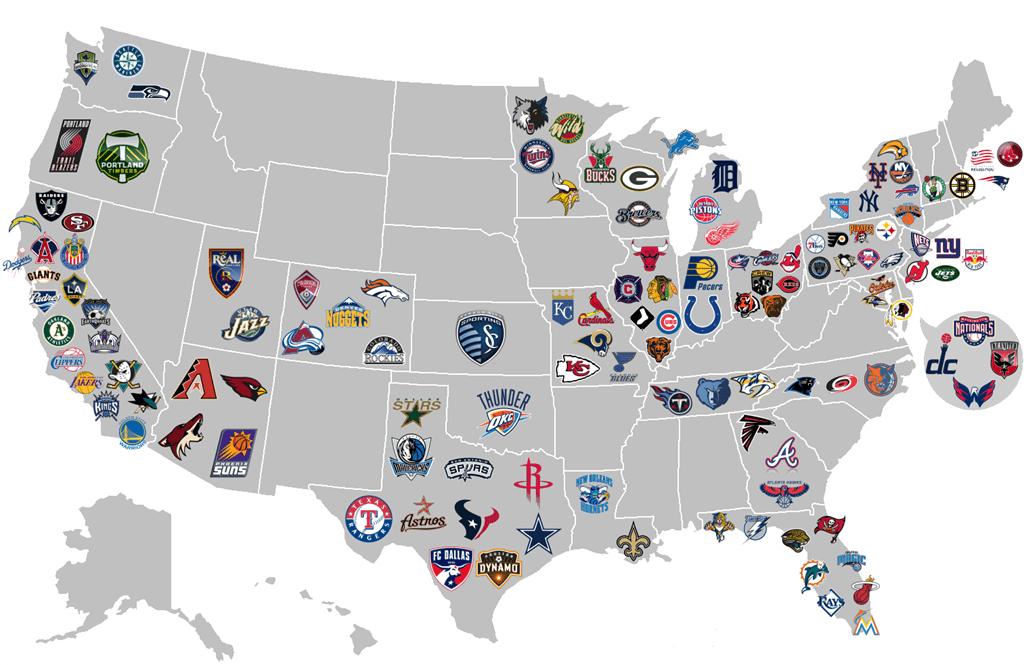 Карта НХЛ